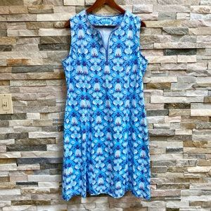J. Mclaughlin Pineapple Sleeveless Dress Size XL